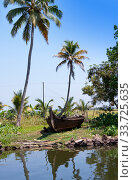 Kerala backwaters in Alleppey, India (2014 год). Стоковое фото, фотограф Вознесенская Ольга / Фотобанк Лори