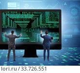 Купить «Big data concept with data mining analyst», фото № 33726551, снято 5 августа 2020 г. (c) Elnur / Фотобанк Лори