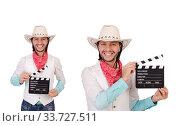 Купить «Cowboy isolated on the white background», фото № 33727511, снято 24 октября 2013 г. (c) Elnur / Фотобанк Лори
