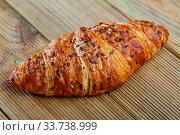 Купить «Closeup of delicious sweet croissants», фото № 33738999, снято 10 июля 2020 г. (c) Яков Филимонов / Фотобанк Лори