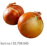 Купить «Raw whole onions», фото № 33739043, снято 27 мая 2020 г. (c) Яков Филимонов / Фотобанк Лори
