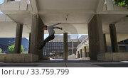 Купить «Caucasian man practicing parkour», видеоролик № 33759799, снято 31 октября 2019 г. (c) Wavebreak Media / Фотобанк Лори