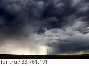 Купить «Prairie Storm Clouds Canada Saskatchewan Summer Warnings», фото № 33761191, снято 2 июня 2020 г. (c) age Fotostock / Фотобанк Лори