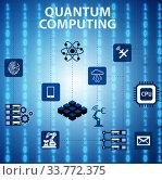 Купить «Quantum computing as modern technology concept», фото № 33772375, снято 5 июня 2020 г. (c) Elnur / Фотобанк Лори