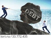 Купить «Business concept of debt and borrowing», фото № 33772435, снято 11 июля 2020 г. (c) Elnur / Фотобанк Лори