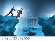 Купить «Concept of unethical business competition», фото № 33772559, снято 29 мая 2020 г. (c) Elnur / Фотобанк Лори