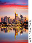 Frankfurt at sunset. Стоковое фото, фотограф Sergey Borisov / Фотобанк Лори
