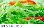 Marinated Cabbage and Sweet Pepper Slaw close up. Стоковое фото, фотограф Zoonar.com/alexander mychko / easy Fotostock / Фотобанк Лори