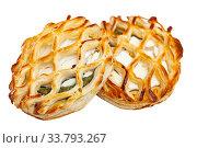 Купить «Puffs with spinach and goat cheese», фото № 33793267, снято 15 июля 2020 г. (c) Яков Филимонов / Фотобанк Лори