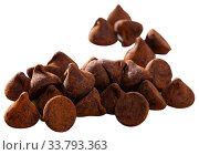Chocolate truffle candies on white background. Стоковое фото, фотограф Яков Филимонов / Фотобанк Лори