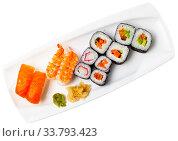 Sushi platter. Стоковое фото, фотограф Яков Филимонов / Фотобанк Лори