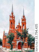 Roman Catholic Church. Parish of the Sacred Heart of Jesus in Samara, Russia. Стоковое фото, фотограф Акиньшин Владимир / Фотобанк Лори