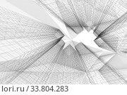 Купить «Abstract digital graphic background. Modern 3d art», иллюстрация № 33804283 (c) EugeneSergeev / Фотобанк Лори