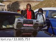 Купить «Аудиотехника из прошлого Магнитофон Sharp gf-575 Dolby system, атрибуты 80-х годов», фото № 33805751, снято 14 сентября 2019 г. (c) Цветкова Елена / Фотобанк Лори