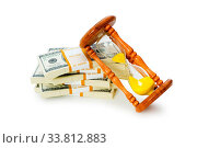 Купить «Time is money concept with dollars and hourglass», фото № 33812883, снято 11 июля 2020 г. (c) easy Fotostock / Фотобанк Лори