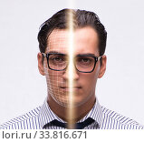 Купить «Concept of face recognition software and hardware», фото № 33816671, снято 5 июня 2020 г. (c) Elnur / Фотобанк Лори