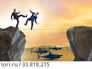 Купить «Concept of unethical business competition», фото № 33818215, снято 5 июля 2020 г. (c) Elnur / Фотобанк Лори