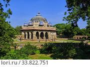 India, Delhi, Humayun Mausoleum, Unesco world heritage, Isa Khan's Tomb. Стоковое фото, фотограф Philippe Michel / age Fotostock / Фотобанк Лори