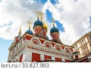 Купить «St. George's Church in Moscow, Russia», фото № 33827903, снято 7 июля 2019 г. (c) FotograFF / Фотобанк Лори