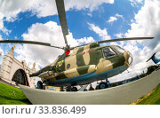 Russian Air Force Mi-8 helicopter in camouflage painting (2019 год). Редакционное фото, фотограф FotograFF / Фотобанк Лори