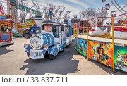 Купить «Quarantined Luna Park in Odessa, Ukraine», фото № 33837711, снято 17 марта 2020 г. (c) Sergii Zarev / Фотобанк Лори