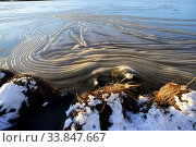 Купить «Wrinkled ice on the surface of the lake in Finland, an interesting natural phenomenon», фото № 33847667, снято 28 мая 2020 г. (c) easy Fotostock / Фотобанк Лори