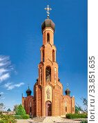 Купить «Church of St Nicholas in Rybakovka, Ukraine», фото № 33851635, снято 31 августа 2019 г. (c) Sergii Zarev / Фотобанк Лори
