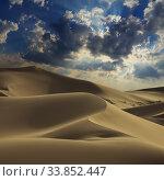 Купить «Big sand dune in Sahara desert», фото № 33852447, снято 6 июля 2019 г. (c) Михаил Коханчиков / Фотобанк Лори