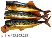 Smoked mackerel fish. Стоковое фото, фотограф Яков Филимонов / Фотобанк Лори