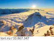 Aussicht vom Säntis, Appenzell, Schweiz. Стоковое фото, фотограф Patrick Frischknecht / age Fotostock / Фотобанк Лори