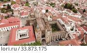 Купить «Picturesque top view of city Evora. Portugal», видеоролик № 33873175, снято 20 апреля 2019 г. (c) Яков Филимонов / Фотобанк Лори