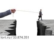 Купить «Boss holding his employee in retention concept», фото № 33874351, снято 4 июня 2020 г. (c) Elnur / Фотобанк Лори