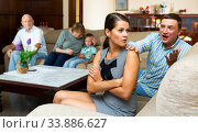 Купить «Upset woman after discord with husband and parents», фото № 33886627, снято 4 июня 2020 г. (c) Яков Филимонов / Фотобанк Лори