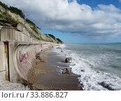Купить «Краснодарский край, Туапсинский район, пляж рядом с посёлком Шепси», фото № 33886827, снято 30 мая 2020 г. (c) glokaya_kuzdra / Фотобанк Лори