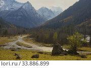 Купить «Ride in mountains», фото № 33886899, снято 23 октября 2017 г. (c) александр жарников / Фотобанк Лори