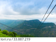 Mountains of Armenia from the cable car from Tatev Monastery on a summer day. Стоковое фото, фотограф Константин Лабунский / Фотобанк Лори