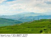 Купить «Picturesque fields and mountains of Armenia, panoramic view of the area», фото № 33887227, снято 8 июня 2018 г. (c) Константин Лабунский / Фотобанк Лори