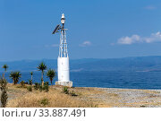 Lighthouse against the background of the sea and sky (Greece, Peloponnese) Стоковое фото, фотограф Татьяна Ляпи / Фотобанк Лори