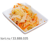 Купить «Homemade sauerkraut on white plate», фото № 33888035, снято 5 июня 2020 г. (c) Яков Филимонов / Фотобанк Лори