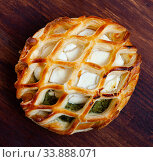 Купить «Tasty bakery pastries with goat cheese and and spinach», фото № 33888071, снято 6 июня 2020 г. (c) Яков Филимонов / Фотобанк Лори