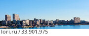 Купить «Horizontal photography skyline of Albufereta. Costa Blanca, Alicante. Spain», фото № 33901975, снято 7 декабря 2016 г. (c) Alexander Tihonovs / Фотобанк Лори