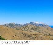 Купить «Прогулка в горах Кара-Даг», фото № 33902507, снято 31 мая 2020 г. (c) Татьяна Тимченко / Фотобанк Лори