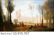 Купить «JMW Turner 1775-1851. Rouen: A View from the Left Bank in the Faubourg St-Sever ?1827-8. Oil on canvas.», фото № 33915707, снято 3 апреля 2019 г. (c) age Fotostock / Фотобанк Лори
