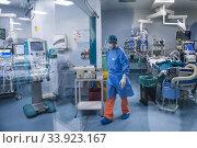 Italy, Pavia, San Matteo hospital, intensive care unit. Редакционное фото, фотограф Yoko Aziz / age Fotostock / Фотобанк Лори
