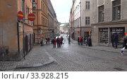 На улицах старого Стокгольма. Швеция (2019 год). Редакционное видео, видеограф Виктор Карасев / Фотобанк Лори