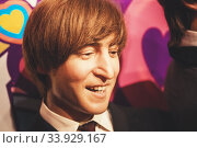 Купить «London, United Kingdom - August 24, 2017: The Beatles in Madame Tussauds of London», фото № 33929167, снято 24 августа 2017 г. (c) Nataliia Zhekova / Фотобанк Лори