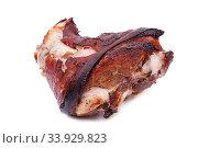 Купить «Roasted pork knuckle isolated on white background», фото № 33929823, снято 18 января 2016 г. (c) Nataliia Zhekova / Фотобанк Лори
