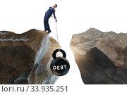 Concept of debt and load with businessman. Стоковое фото, фотограф Elnur / Фотобанк Лори