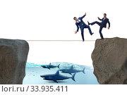 Купить «Concept of unethical business competition», фото № 33935411, снято 5 июля 2020 г. (c) Elnur / Фотобанк Лори