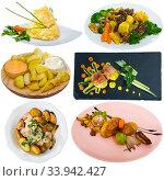 Set of dishes with potatoes. Стоковое фото, фотограф Яков Филимонов / Фотобанк Лори